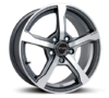 Set of 4 Fox FX6 Carbon Alloy Wheels with Polished Face