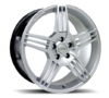 Set of 4 Riva MAG Hyper Silver Alloy Wheels